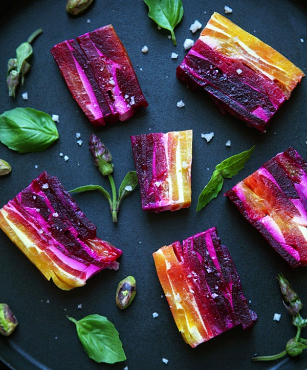 Beet and Goat Cheese Jewels - beautiful and yummy party food