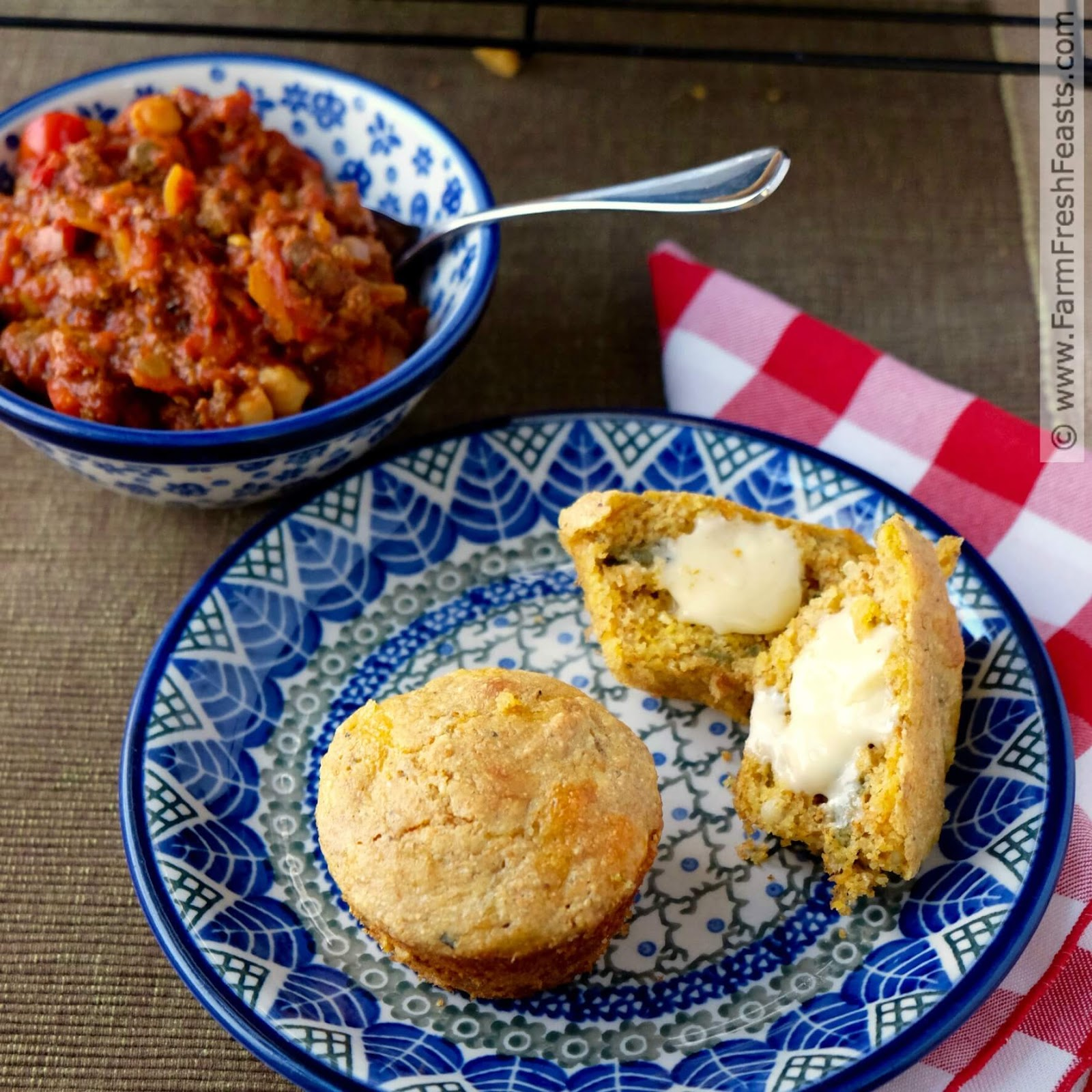 Farm Fresh Feasts: Cheesy Chile Corn Muffins (Gluten Free