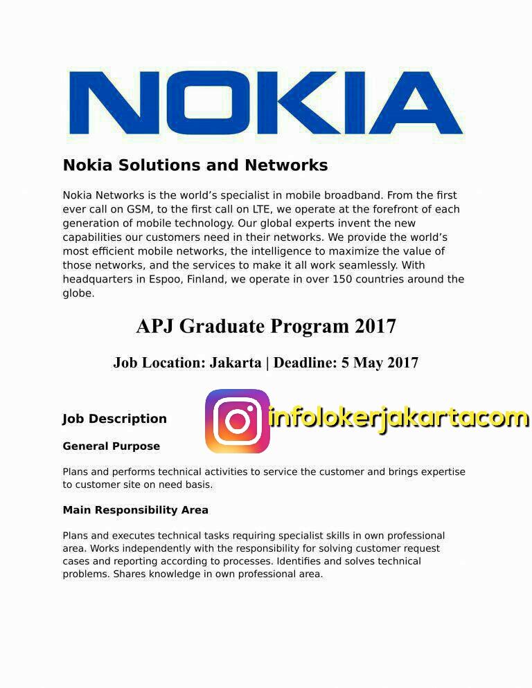 Lowongan Kerja Nokia April 2017
