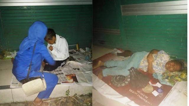 Ditinggal Anaknya Di Gedung Kosong, Nenek Renta Yang Lumpuh Ini Hidup Memprihatinkan
