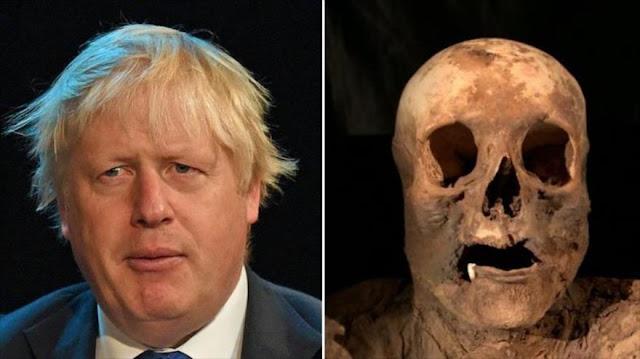 Canciller británico es descendiente de una momia hallada en Suiza