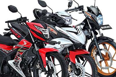 Perbandingan Honda Sonic 150R vs Yamaha MX King vs Suzuki Satria FU150