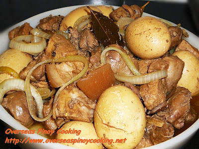 Adobo with Chicken Liver and Hardboiled Egg