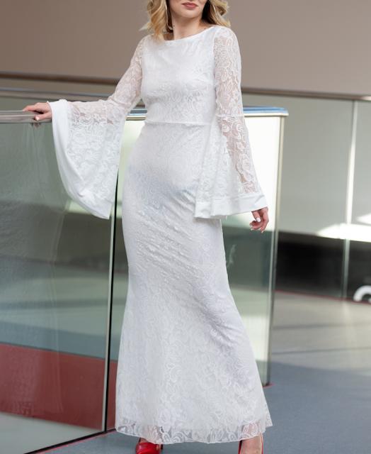 white lace dress fairy