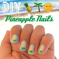 diy pineapple nails, diy summer nails, summer nail ideas, lauren banawa