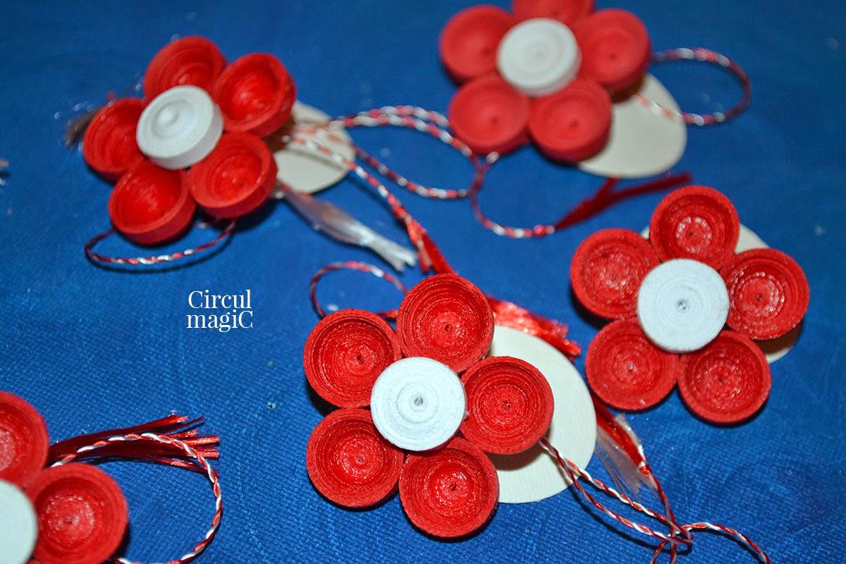 Martisoare 2015 Flori Rosii Circul Magic Quilling Blog