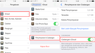 Cara Backup Data IOS Iphone, Ipad, Ipod Mengggunakan Icloud