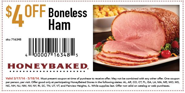 Honey baked ham coupons