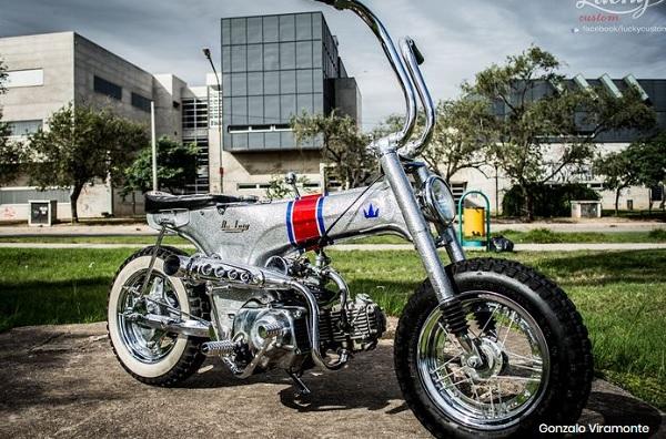 Modifikasi Honda Dax Berkonsep Bobber