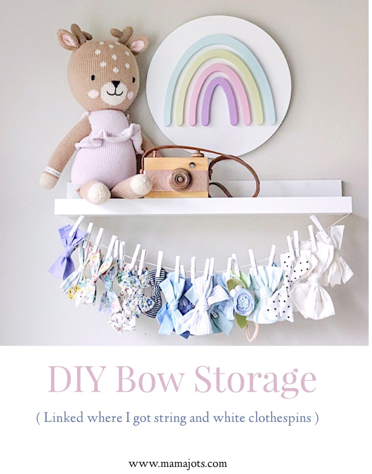 DIY Bow Storage