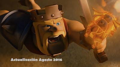 Clash of Clans Actualización Agosto 2016