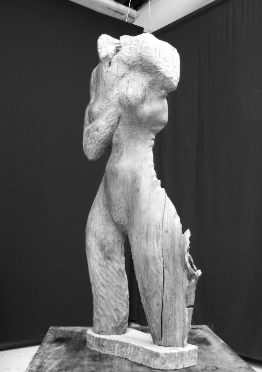 Edith Lafay sculpture bois 2 chêne taille directe