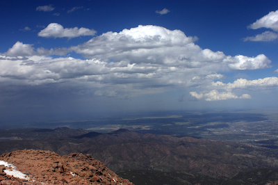 a photo from the top of Pike's Peak