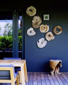 Decorar con troncos de madera
