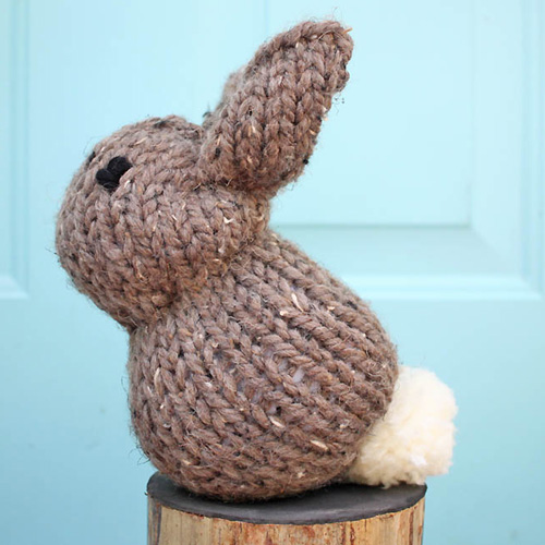 One Square Stuffed Bunny - Free Pattern