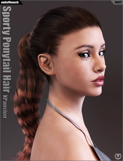 Sporty Ponytail Hair and OOT Hairblending 2.0 Texture XPansion