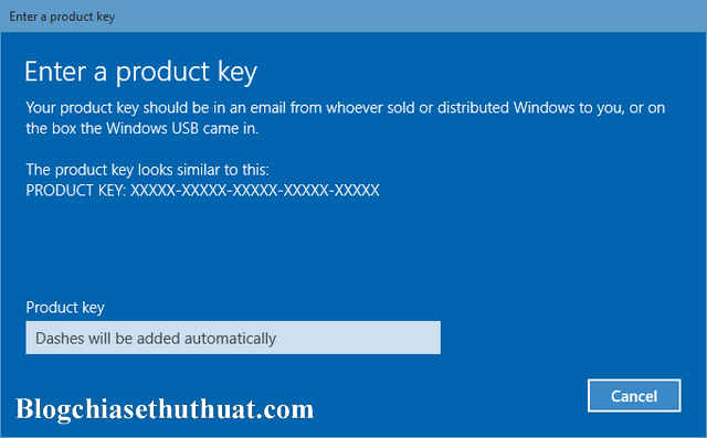 Product Key cài đặt Windows 8/8.1 & Windows 10