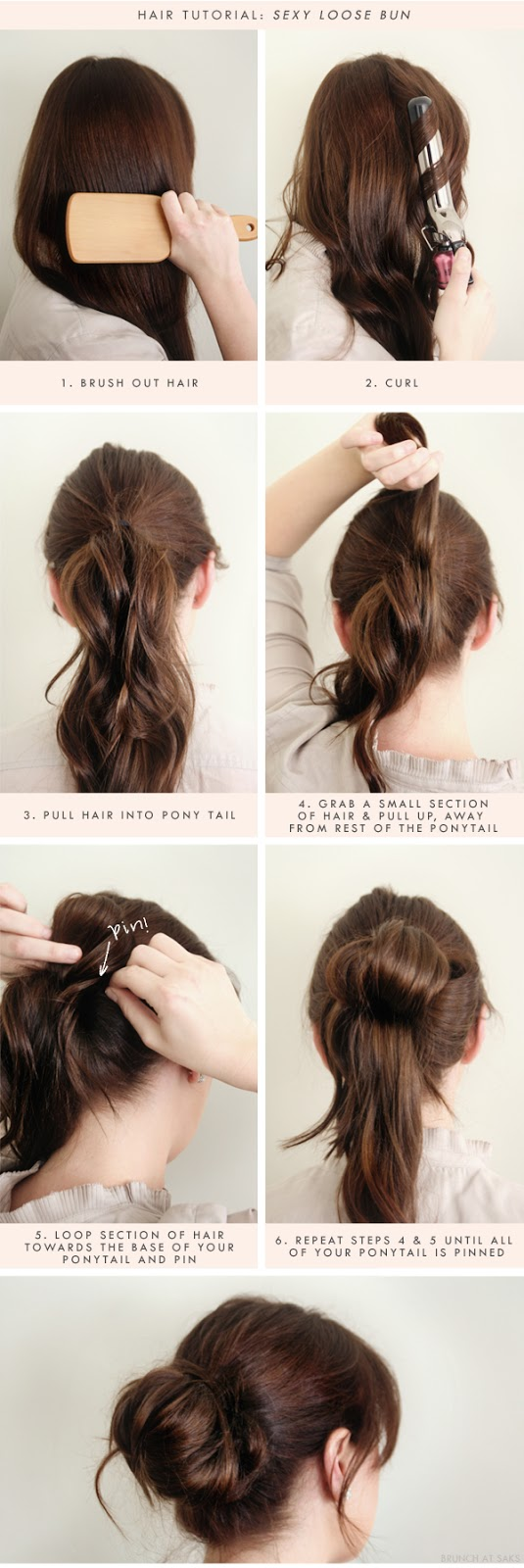 High bun hairstyles step by step