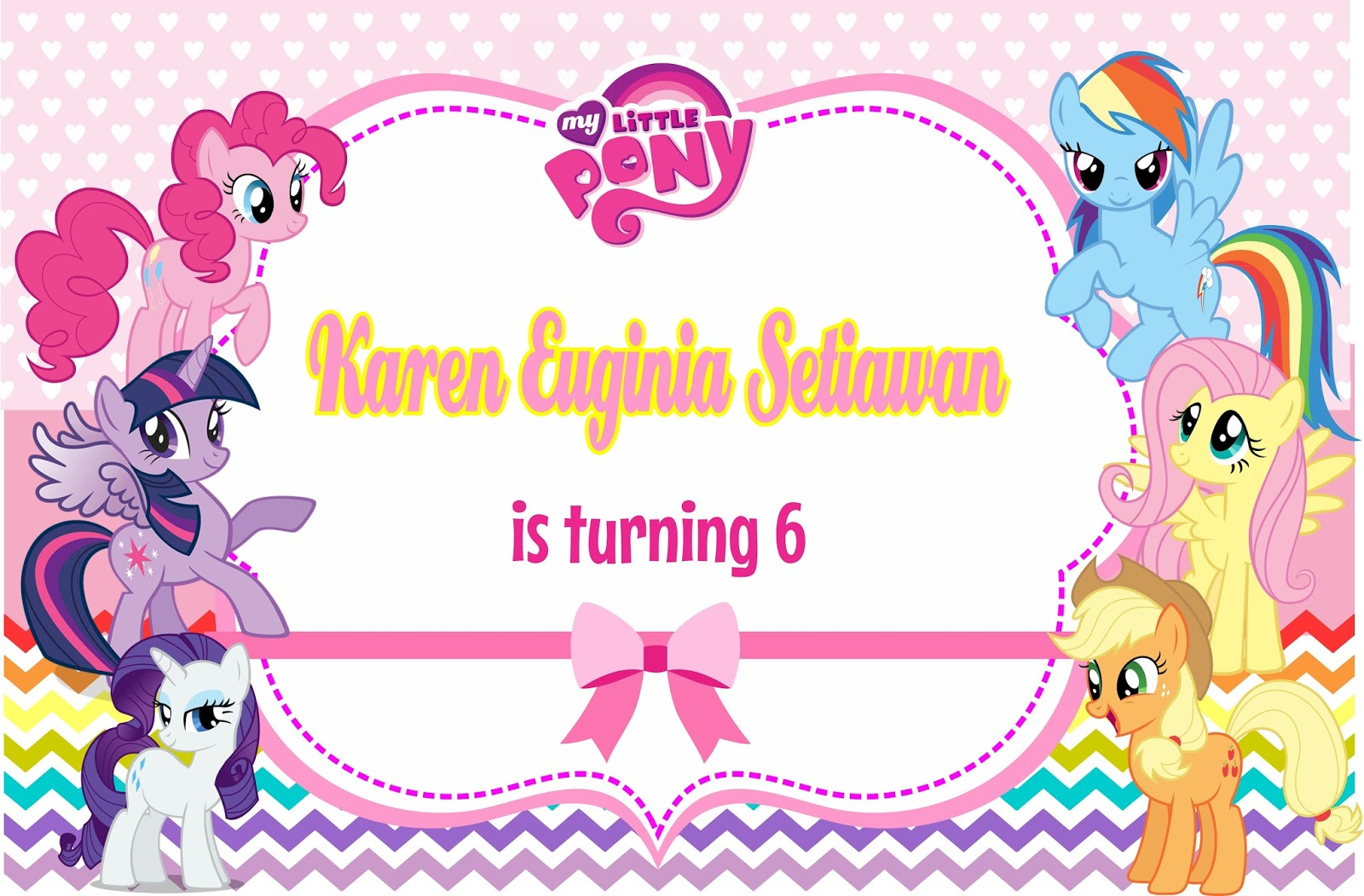 Banner Ulang Tahun Little Pony