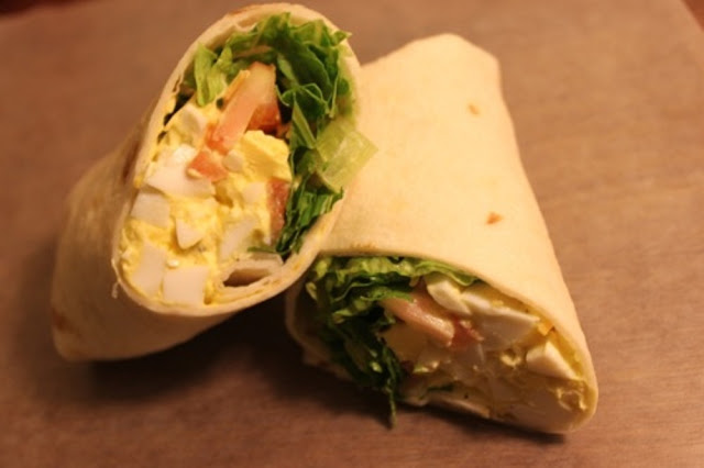egg salad wrap