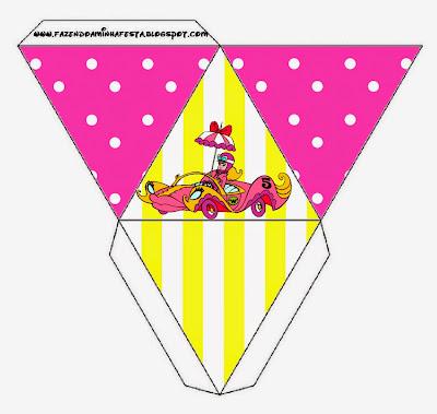 Caja con forma de pirámide de Penelope Glamour Retro.