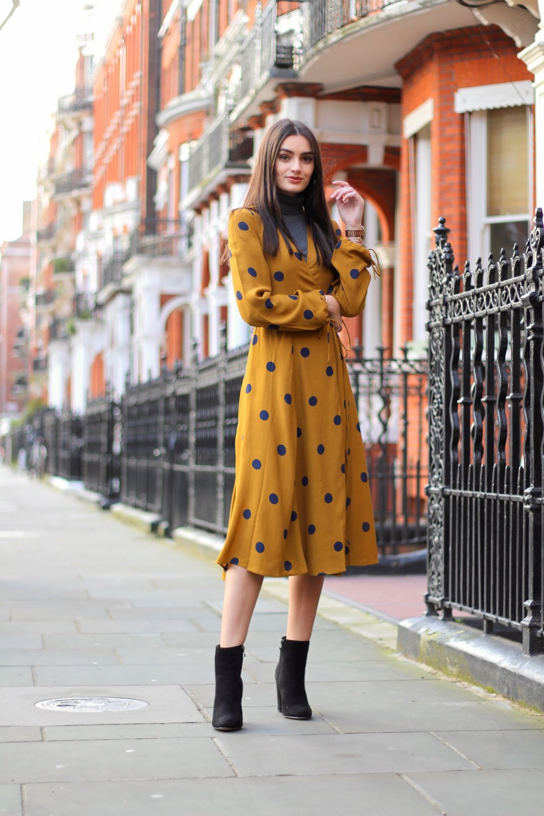 midi dress layering winter peexo style london