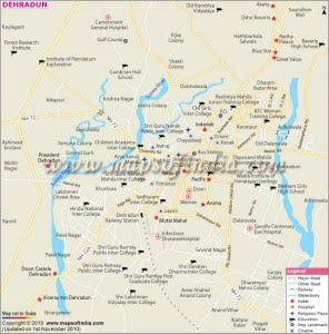Dehradun City Map