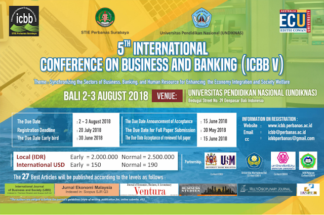 Omah Pamflet The 5th International Conference On Business And Banking Icbb