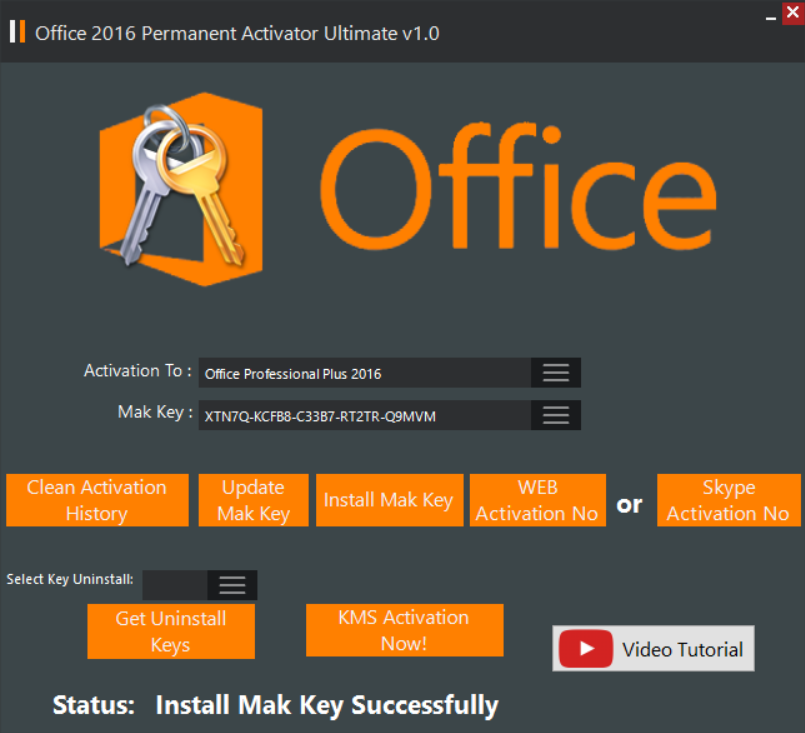 office 2016 mak keys