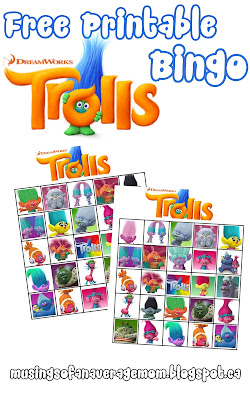 free printable trolls bingo
