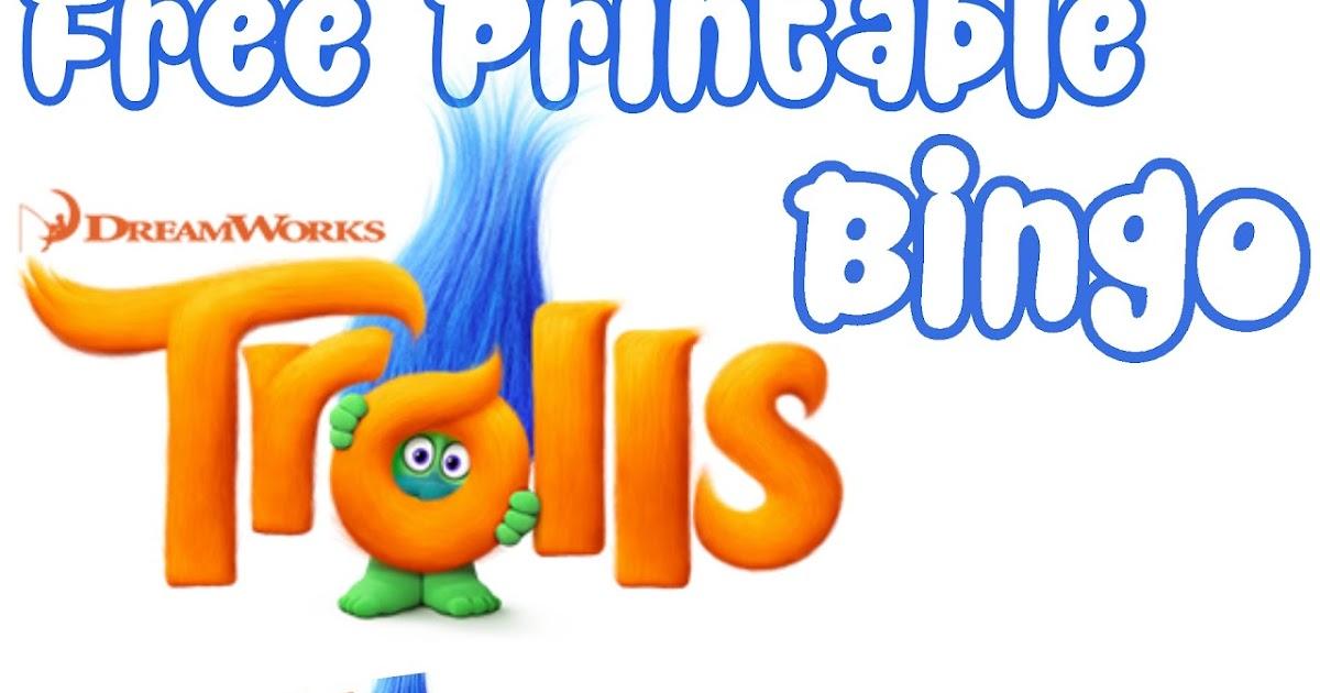 Musings of an Average Mom: Free Printable Trolls Movie Bingo