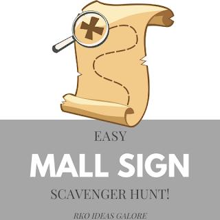 Mall Sign Scavenger Hunt