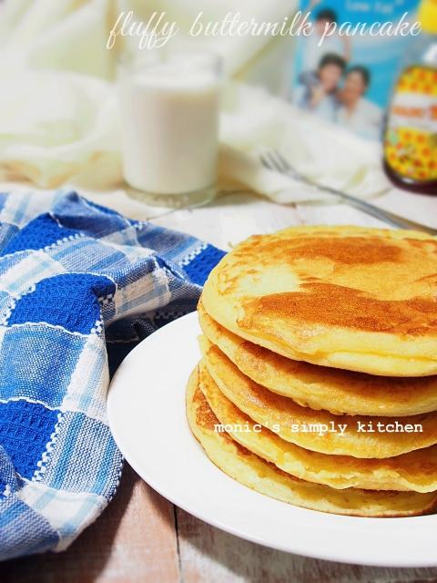 resep fluffy buttermilk pancake