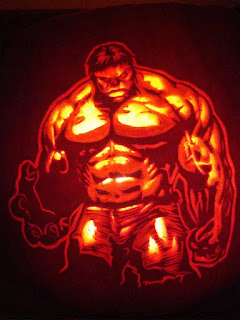 hulk pumpkins fruit halloween carving arts