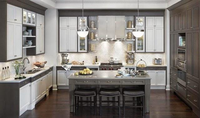 cuisine grise : la cuisine grise et blanche un mélange de rêve