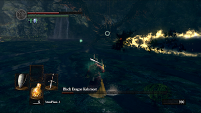 dark souls video game 2011 black dragon kalameet boss