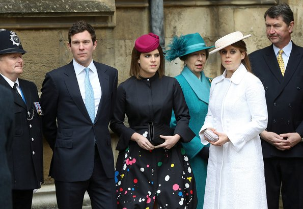 Queen Elizabeth, Kate Middleton, Countess Sophie, Lady Louise, Princess Anne, Princess Eugenie, Jack Brooksbank, Princess Beatrice