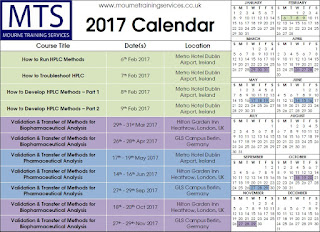 MTS Ltd Training Course Calendar for 2017