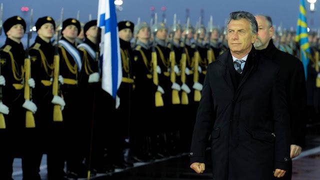 El presidente Mauricio Macri comenzó su visita a Rusia, donde se reunirá con su par, Vladimir Putin