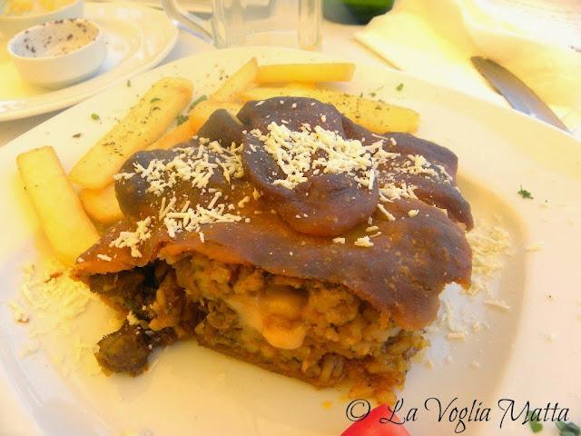 Cefalonia Fiskardo ristorante Lagoudera pasticcio con 4 tipi di carne