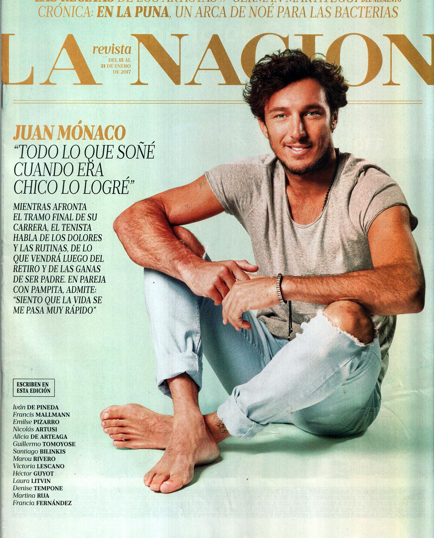 tennis player juan pico monaco covers la nacion magazine. Black Bedroom Furniture Sets. Home Design Ideas