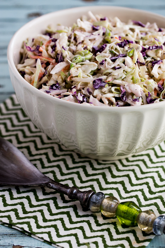Kalyn's Low Carb Coleslaw found on KalynsKitchen.com