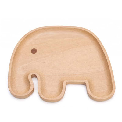 Wooden Elephant Plate