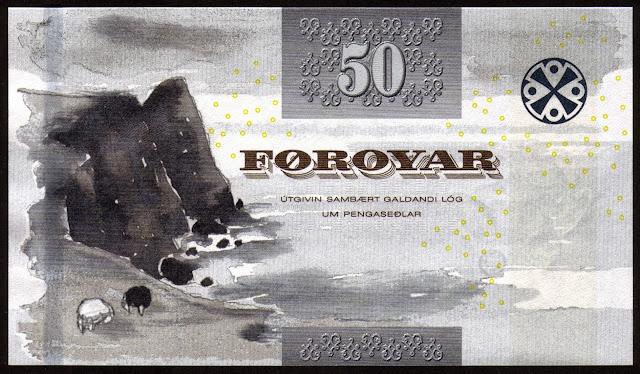 Faroe Islands money currency 50 Krone banknote 2011