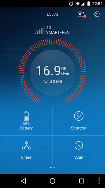 1 bulan bersama andromax M2P (Huawei E5573)