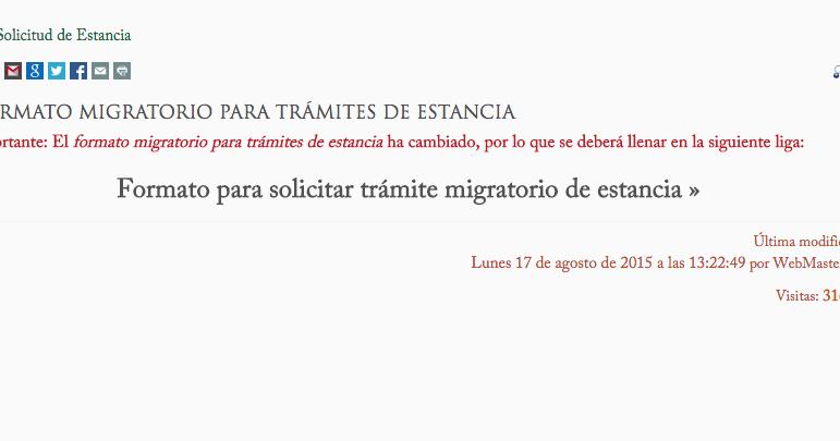 EMIGRANTES EN MÉXICO: NOTIFICAR CAMBIOS: Cambio de Domicilio