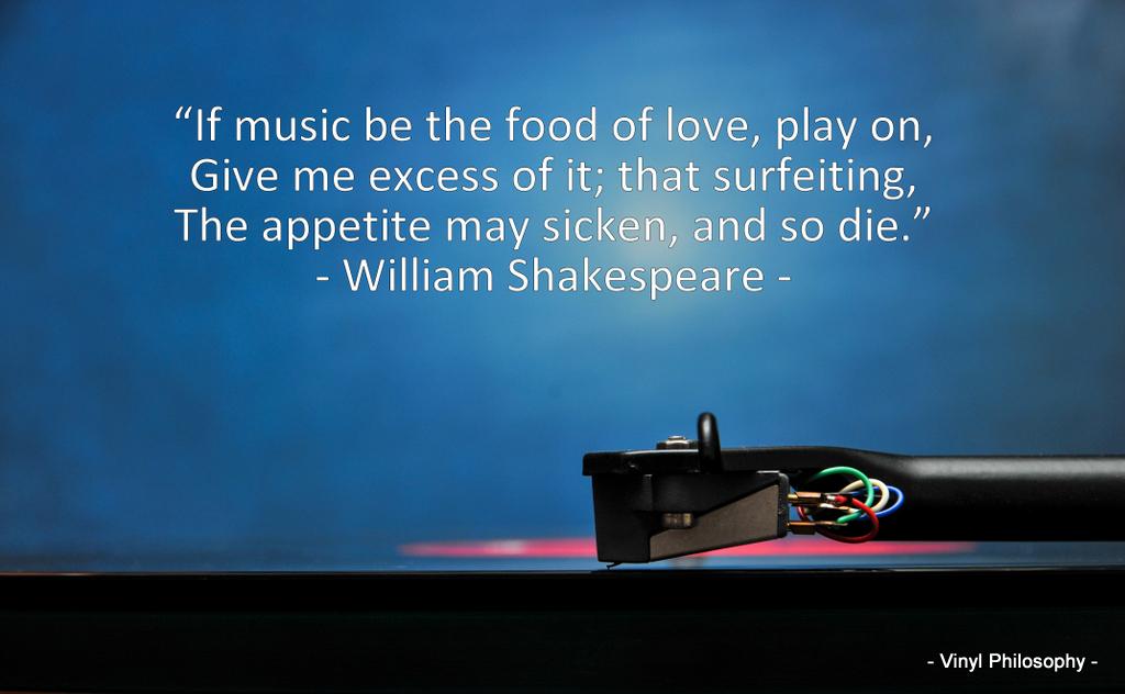 Vinyl Philosophy William Shakespeare Twelfth Night Music Quote