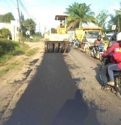 Jalintim Palembang - Jambi Mulai Diperbaiki
