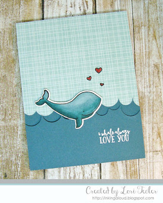 I Whale Always Love You card-designed by Lori Tecler/Inking Aloud-stamps and dies from Avery Elle