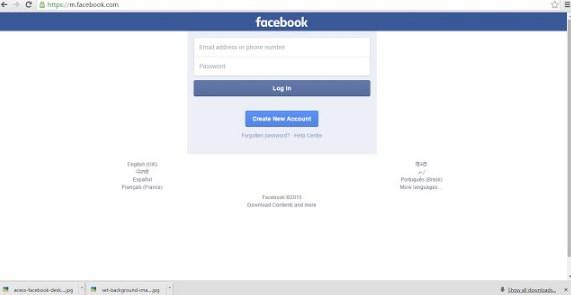 Facebook Mobile Version Login